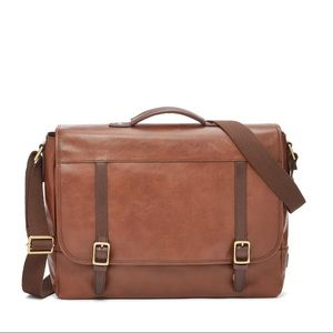 Fossil Brown Evan Leather Messenger Bag